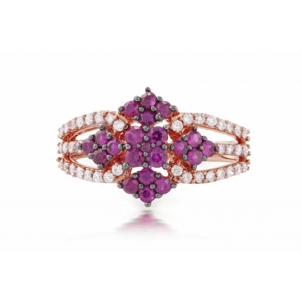 Farin Ruby Diamond Ring