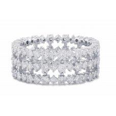 Inga Shared Prong Diamond Ring