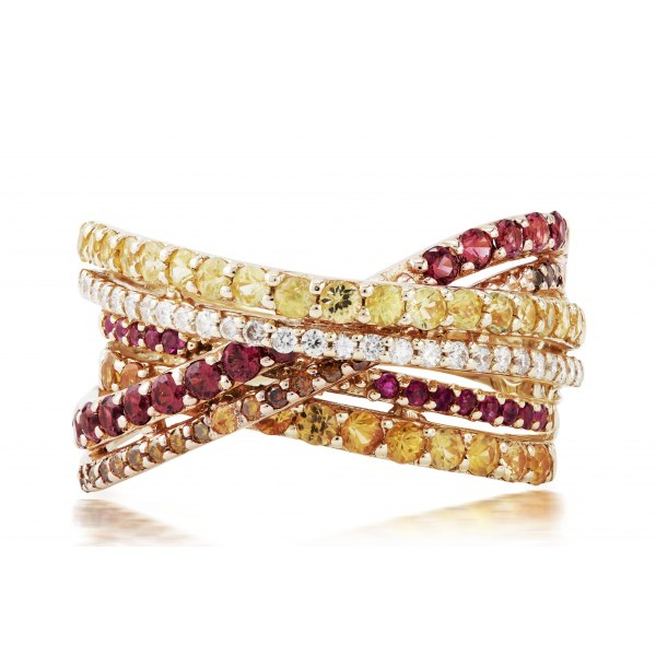 Gouina Prong Ruby Diamond Ring