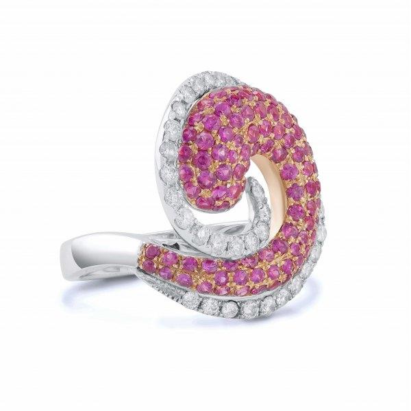 Gurara Pave Ruby Diamond Ring