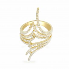Lisbon Prong Yellow Gold Diamond Ring