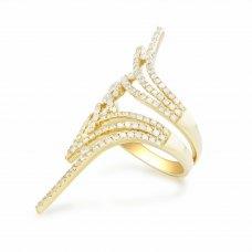Lisbon Prong Yellow Gold Diamond Ring