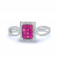 Darwyn Ruby Diamond Ring