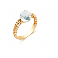 Kagera Blue Topaz Rose Gold Ring