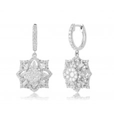 Almirez Prong Diamond Earring 18K White Gold