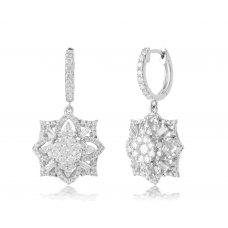 Almirez Prong Diamond Earring 18K White Gold