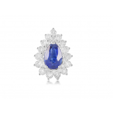 Azurite Prong Diamond Earring