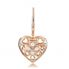 Acotango Bezel Diamond Earring 18K Rose Gold