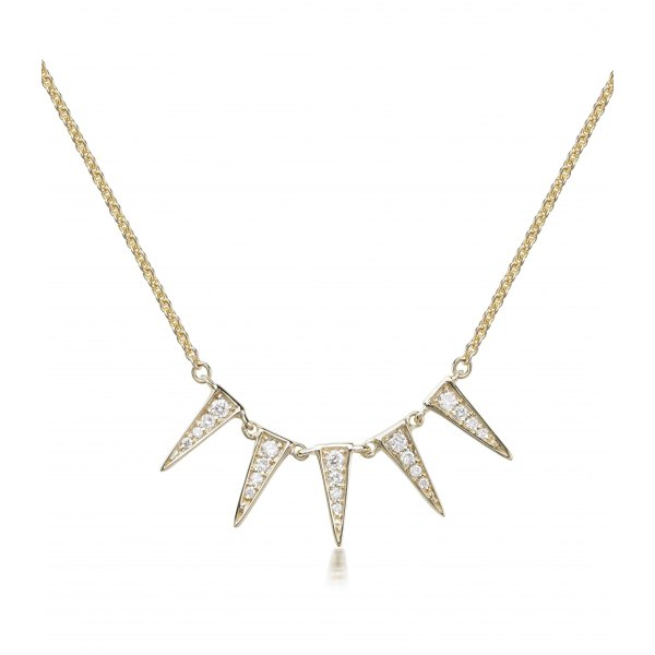 Blane Prong Diamond Necklace 18K Yellow Gold