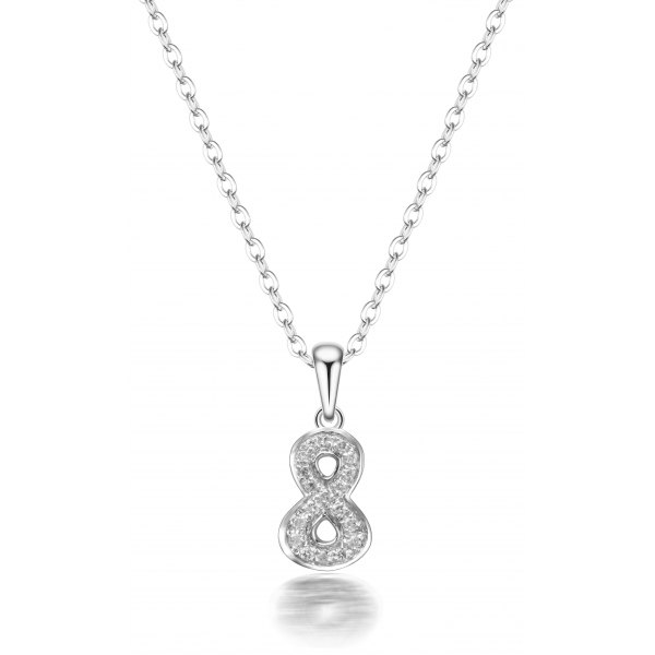 Buckner Prong Diamond Necklace 18K White Gold