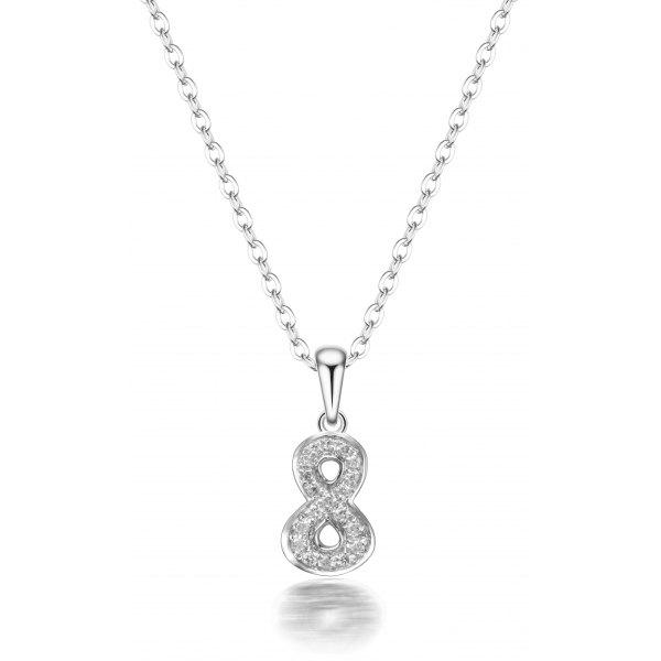 Buckner Prong Diamond Necklace 18K White Gold