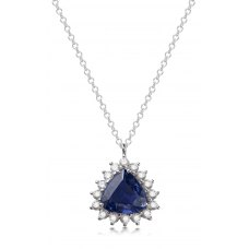 Chiles Prong Diamond Necklace 18K White Gold