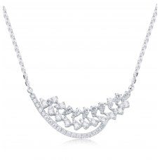 Cueto Prong Diamond Necklace 18K White Gold