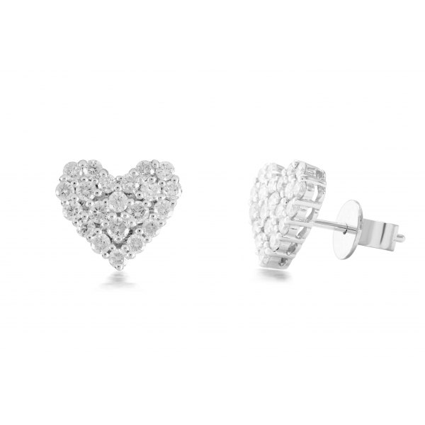 Lidder Prong Diamond Earring 18K White Gold