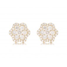 Sonoma Cluster Diamond Earring 18K Yellow Gold