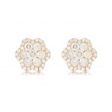 Sonoma Cluster Diamond Earring 18K Yellow Gold