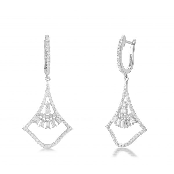 Valtellina Prong Diamond Earring 18K White Gold