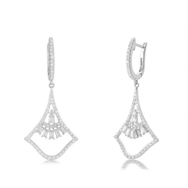 Valtellina Prong Diamond Earring 18K White Gold