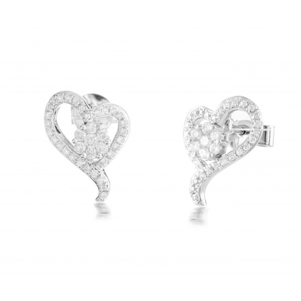 Wolgan Cluster Diamond Earring 18K White Gold