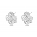 Clare Prong Diamond Earring 18K White Gold