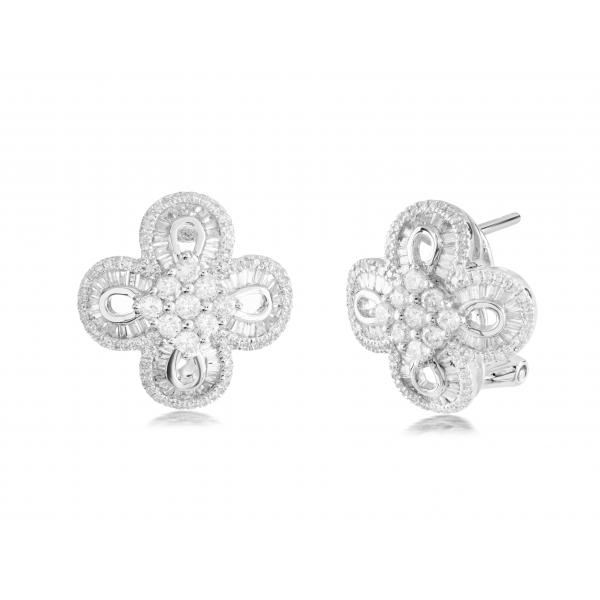 Clare Prong Diamond Earring 18K White Gold