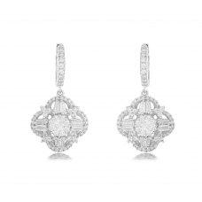 Huon Cluster Diamond Earring 18K White Gold