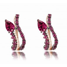 Queyras Ruby Diamond Earring 18K Rose Gold