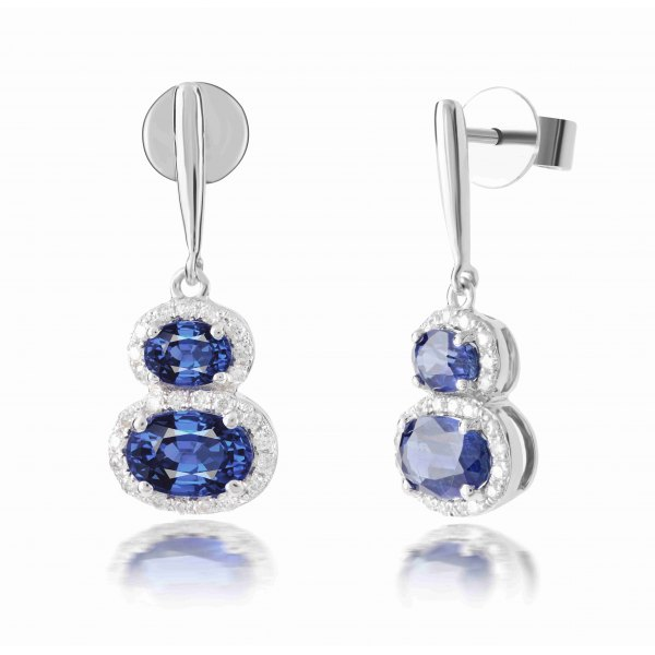 Owens Kyanite Diamond Earring 18K White Gold