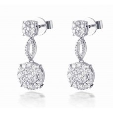 Hetch Cluster Diamond Earring 18K White Gold
