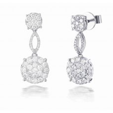 Hetch Cluster Diamond Earring 18K White Gold