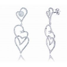 Bangus Prong Diamond Earring 18K White Gold