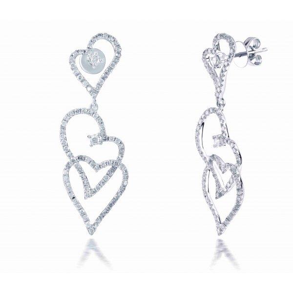 Bangus Prong Diamond Earring 18K White Gold