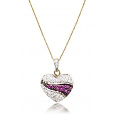 Montafon Ruby Diamond Pendant