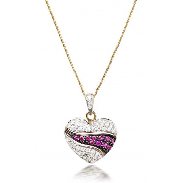 Montafon Ruby Diamond Pendant