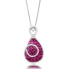 Chumbi Ruby Diamond Pendant