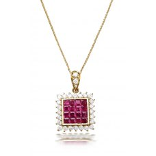 Cibao Ruby Diamond Pendant