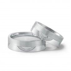 Jacqueleen Pave Diamond Wedding Ring 18K White Gold(Pair)