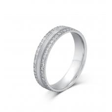 Peppin Shared Diamond Wedding Ring 18K White Gold(Pair)