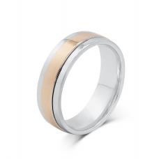 Tavin Diamond Wedding Ring 18K White and Rose Gold(Pair)