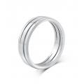 Geoffrey Simplicity Wedding Ring in 18K White Gold(Pair)