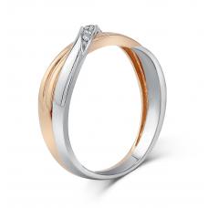Verel Diamond Wedding Ring 18K White and Rose Gold(Pair)