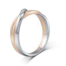 Verel Micro Men's Wedding Ring 18K White and Rose Gold
