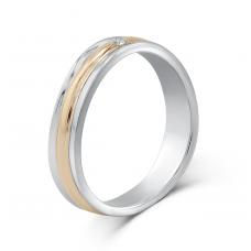 Marvelle Women's Wedding Ring 18K White and Rose Gold