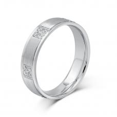 Meriabella Diamond Wedding Ring 18 White Gold(Pair)