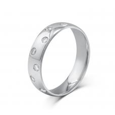 Marry-me Bezel Men's Wedding Ring 18K White Gold