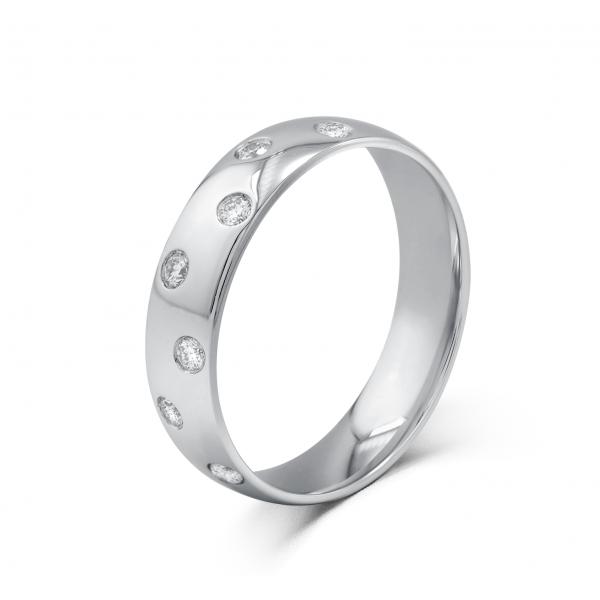 Marry-me Bezel Women's Wedding Ring 18K White Gold