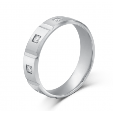 Octave Diamond Wedding Ring 18K White Gold(Pair)