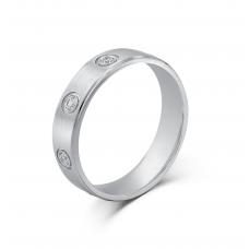Delmore Bezel Men's Wedding Ring 18K White Gold