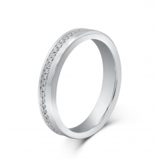 Miquel Micro Men's Wedding Ring in 18K White Gold