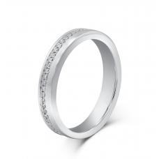 Miquel Micro Women's Wedding Ring 18K White Gold